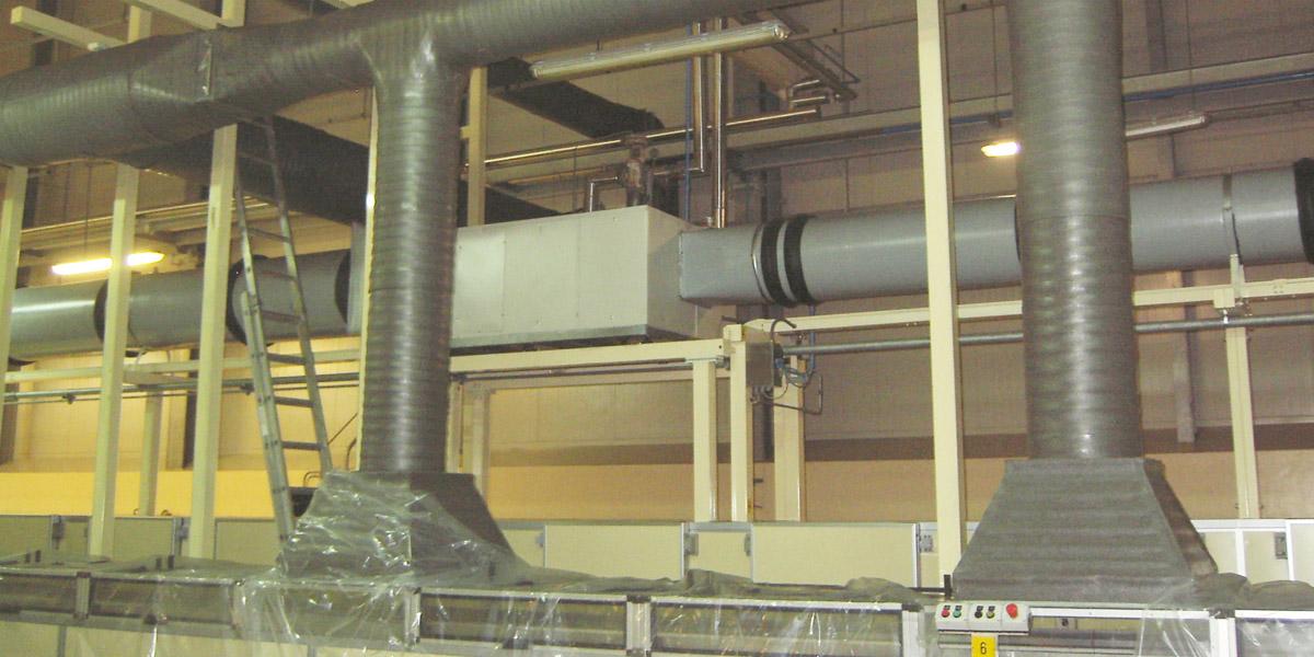c) Estabilización de procesos con temperatura y humedad controlada.